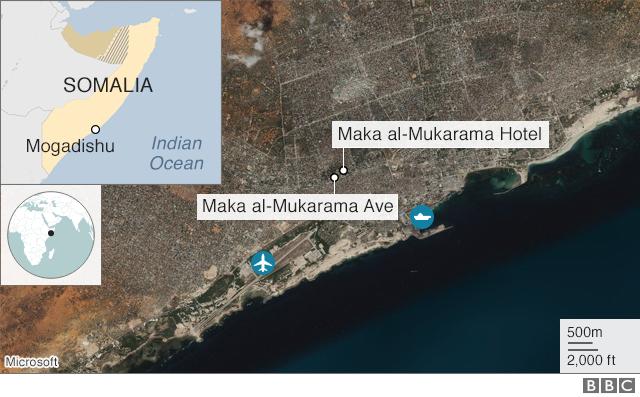 Map of Mogadishu