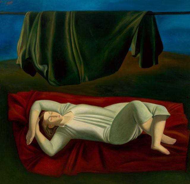 """لوحة """"البساط الأحمر"""" 1987"""