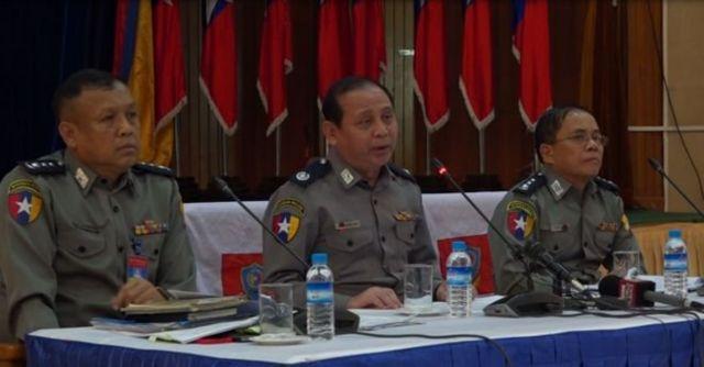 ဗစ်တိုးရီးယားအမှု ရဲတပ်ဖွဲ့ သတင်းစာ ရှင်းလင်းပွဲ