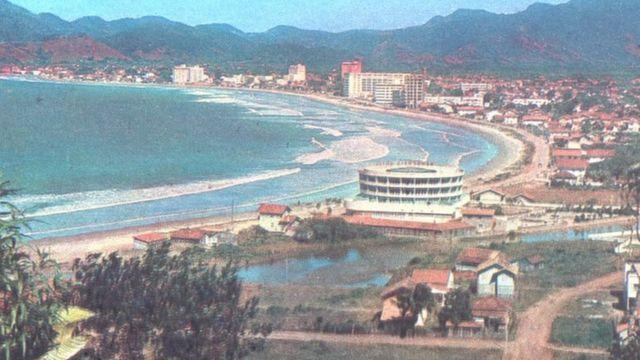 Foto von Praia Central in den 60er Jahren.