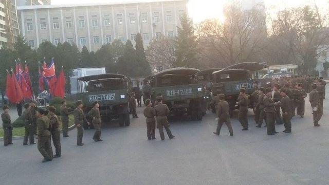 ઉત્તર કોરિયાના જવાનોની તસવીર