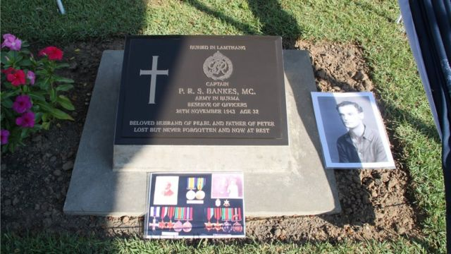 Plaque unveiled for Capt Bankes in war cemetery outside Yangon