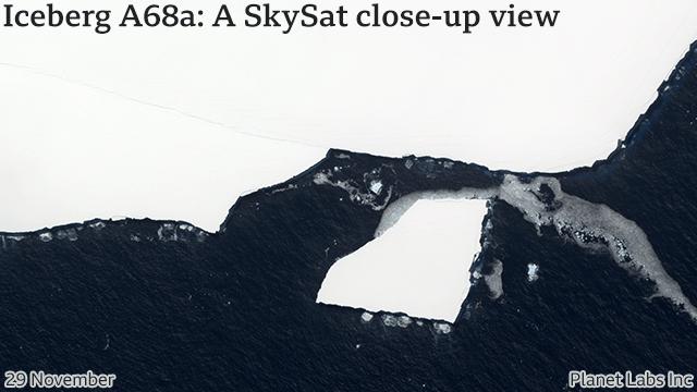 Iceberg A68a
