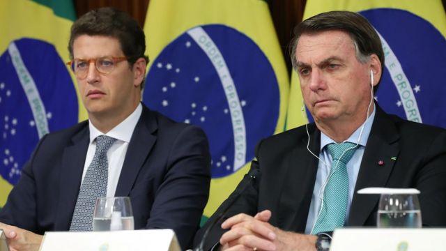 Jair Bolsonaro e Ricardo Salles na Cúpula virtual do clima