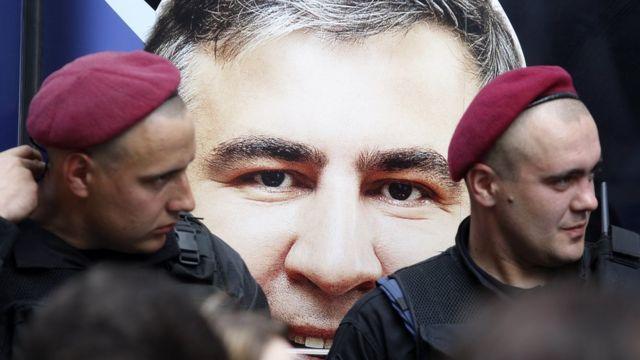 плакат с Михаилом Саакашвили