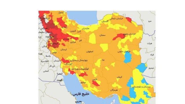 برای نخستینبار طی ماههای اخیر، رنگ آبی هم که نشانگر کمترین میزان شیوع ویروس کرونا است به نقشههای اعلام وضعیت کرونا در ایران بازگشته