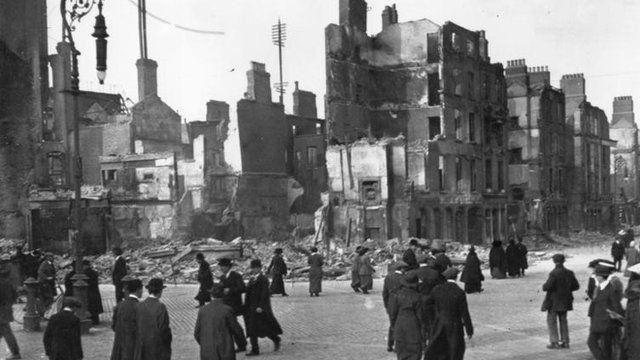 Sackville Street, Dublin - 1916