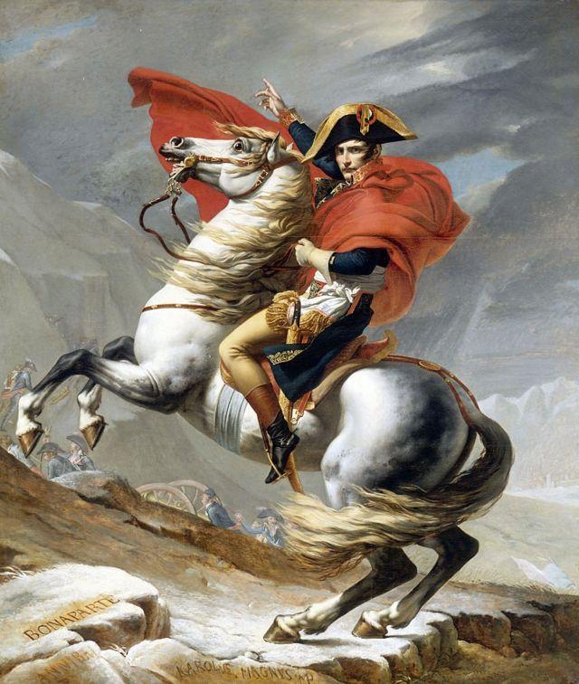 Бонапарт на перевале Сен-Бернар, картина Жак Луи Давида