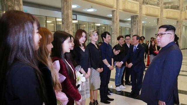 김정은 위원장과 남측예술단