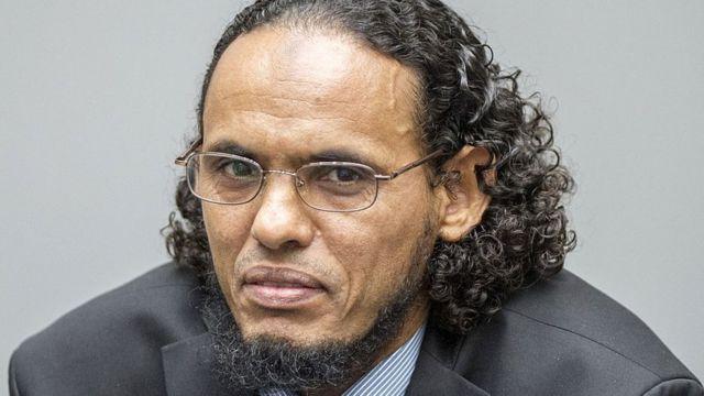 Alleged Al-Qaeda-linked Islamist leader Ahmad Al Faqi Al Mahdi looks on during an appearance at the International Criminal Court in The Hague on August 22, 2016
