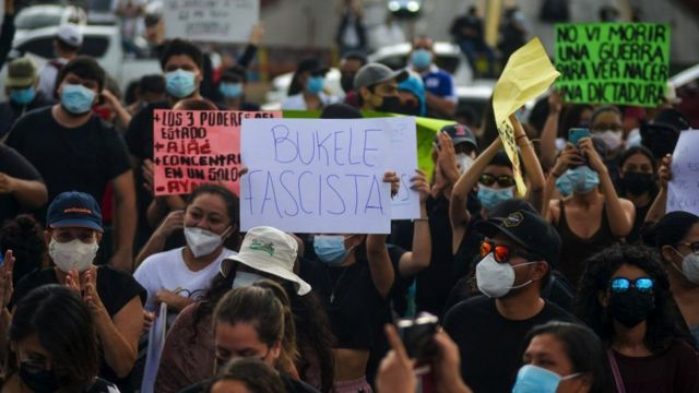 Manifestacion en El Salvador