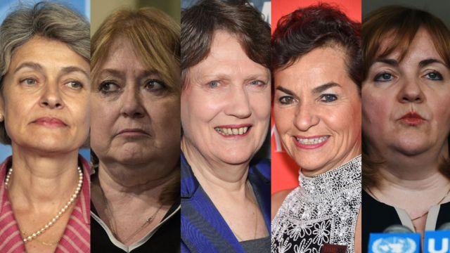 5 candidatas mujeres a ocupar la dirección de Naciones Unidas.