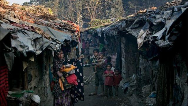 কক্সবাজারে রোহিঙ্গা বসতি
