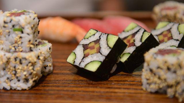 Variedad de sushi