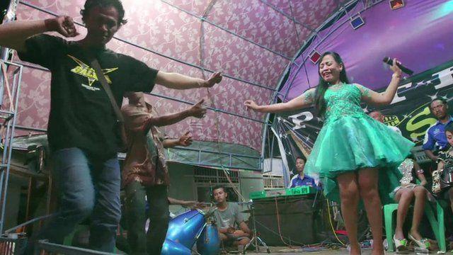 A dangdut performance in Indonesia