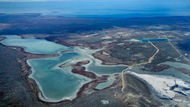 محل ریزش رودخانه اورال به خزر در قزاقستان