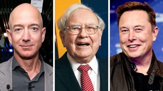 Jeff Bezos, Warren Buffett iyo Elon Musk