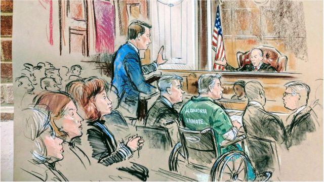 Paul Manafort court sketch