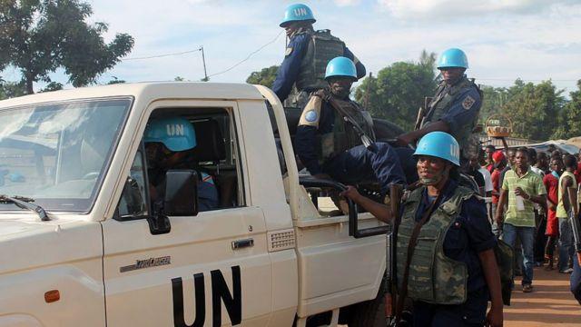 Des soldats de la Mission des Nations unies en Centrafrique