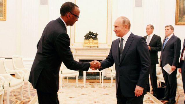 Kagame na Putin