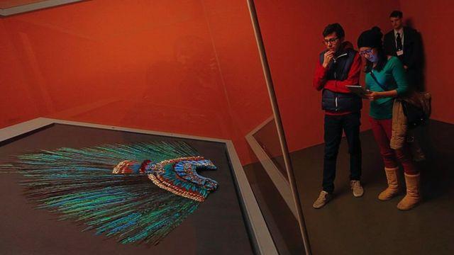 Museo de Viena donde se conserva el penacho de Moctezuma.
