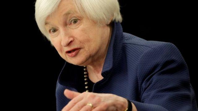 Janet Yellen, presidenta de la Reserva Federal Estadounidense.