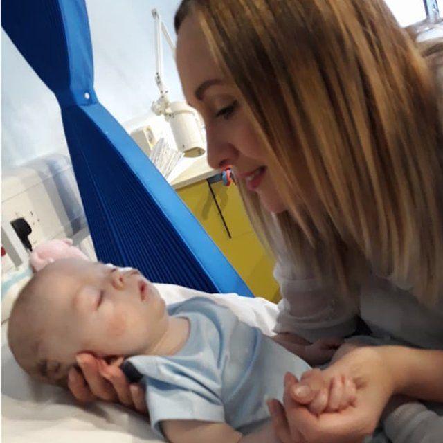 Kirsty treasures memories of her baby, George