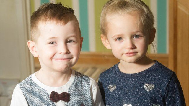 Harvey and his classmate Aniya