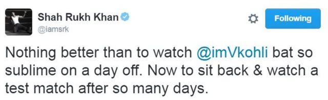 शाहरुख़ ख़ान का ट्वीट