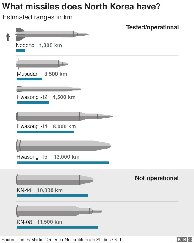 Graphic: North Korean Missiles