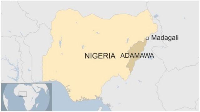 Ikarata ya Nigeria yerekana igisagara ca Madagali