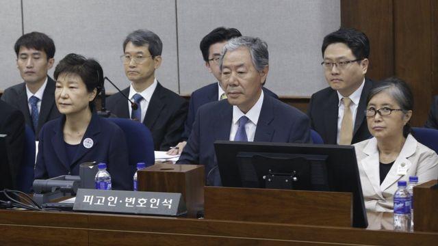 박근혜 전 대통령과 최순실