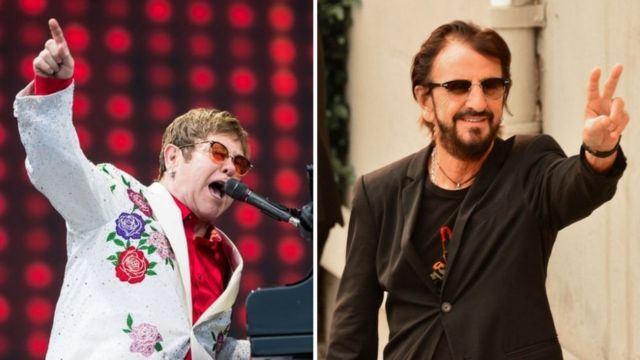 Elton John y Ringo Starr