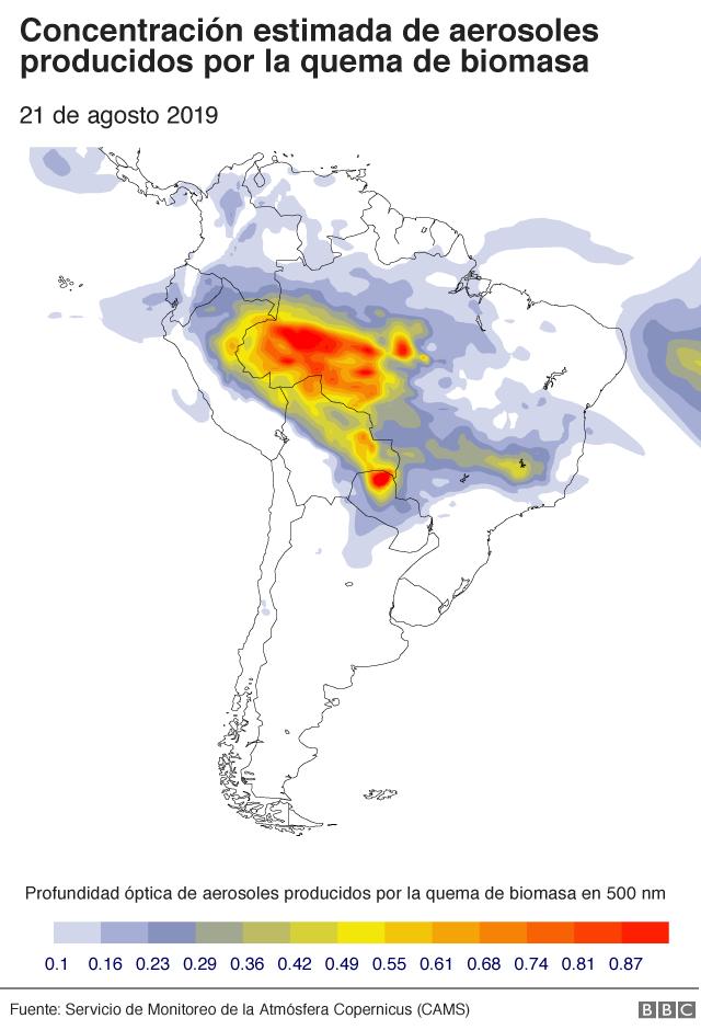 Mapa concentración aerosoles
