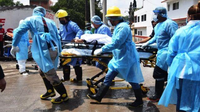rescate de evacuados en Tula
