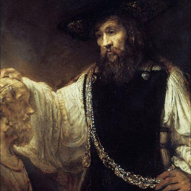 Aristóteles, pintado por Rembrandt