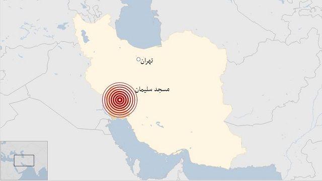 زلزله در خوزستان - مسجد سلیمان