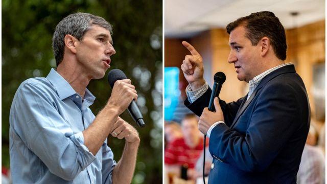 Нынешние кандидаты: демократ Бето О'Рурк и республиканец Тед Круз