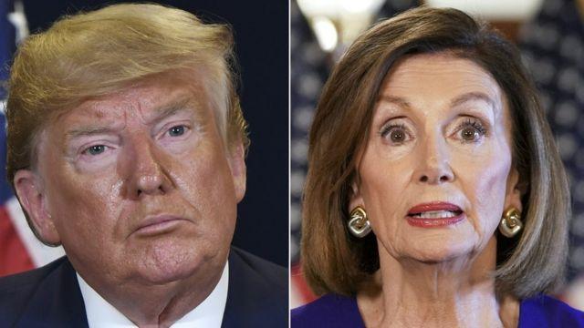Donald Trump y Nancy Pelosi
