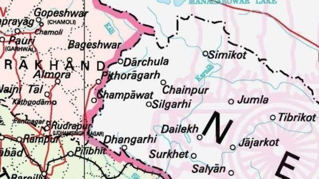 भारतले आफ्नो नक्सामा कालापानी क्षेत्र देखाएपपछि नेपालमा त्यसको विरोध भएको छ