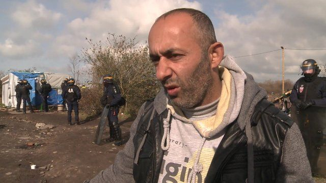 Migrant living in the Calais 'Jungle'
