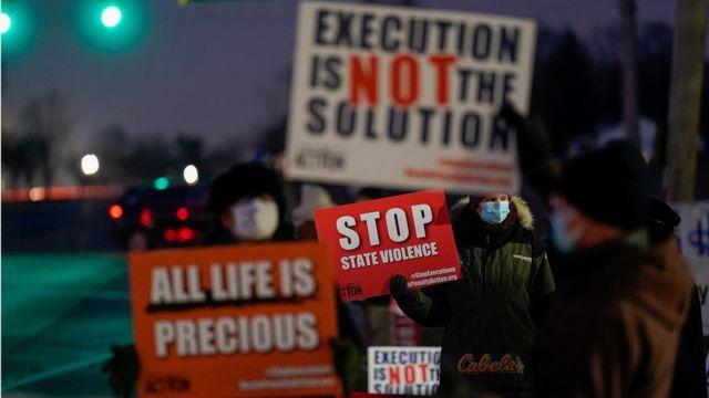 Vigilia contra la pena de muerte en Terre Haute, Indiana