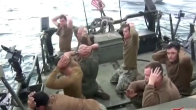 US sailors surrender to Iran's naval forces