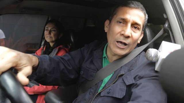 O ex-presidente Ollanta Humala e sua esposa, Nadine Heredia