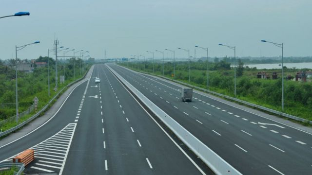 Một đoạn đường cao tốc ở Hà Nội