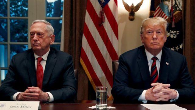 قدم وزير الدفاع الأمريكي، جيمس ماتيس، استقالته بعد يوم واحد من إعلان ترامب عزمه سحب القوات الأمريكية من سوريا