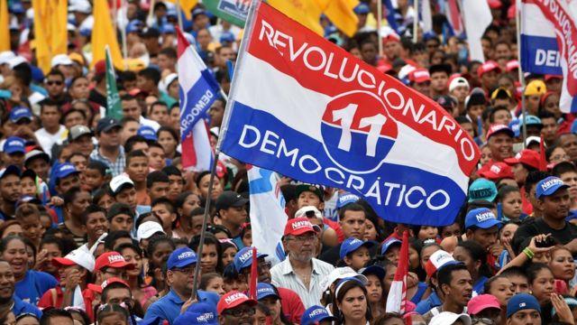 Manifestación a favor del PRD en Panamá.