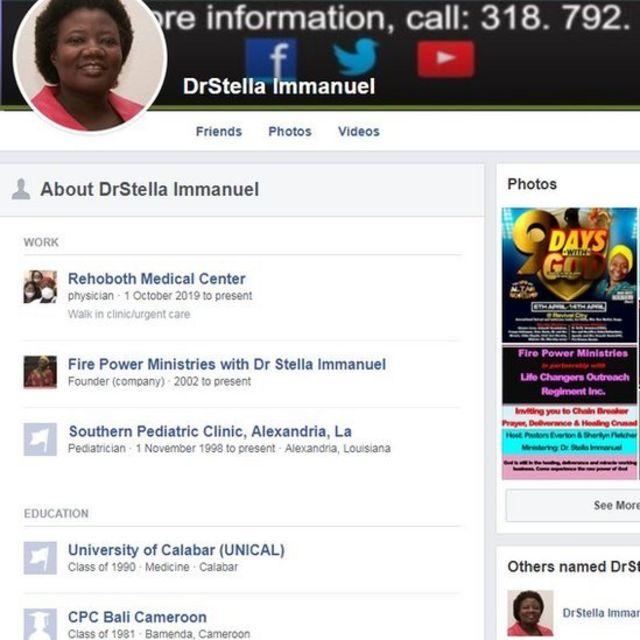 Dr Stella Immanuel Biography Doctor In Hydroxychloroquine Video Wey Facebook Twitter Delete Bin Declare Say Covid 19 Pandemic Na Diabolic Spiritual Battle Inside America Frontline Doctors Video Bbc News Pidgin