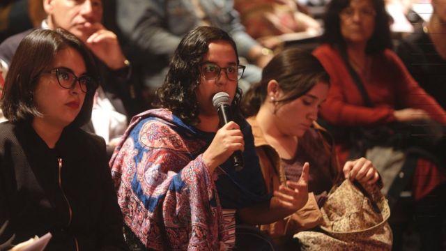 Rueda de preguntas durante la ponencia de Óscar Martínez sobre Centroamérica.