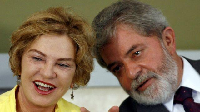 """Brazil""""s Ex President Luiz Inacio Lula da Silva and his wife Marisa Leticia."""